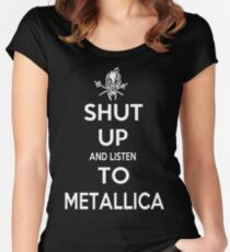 Shut Up And Listen. Women's Fitted Scoop T-Shirt
