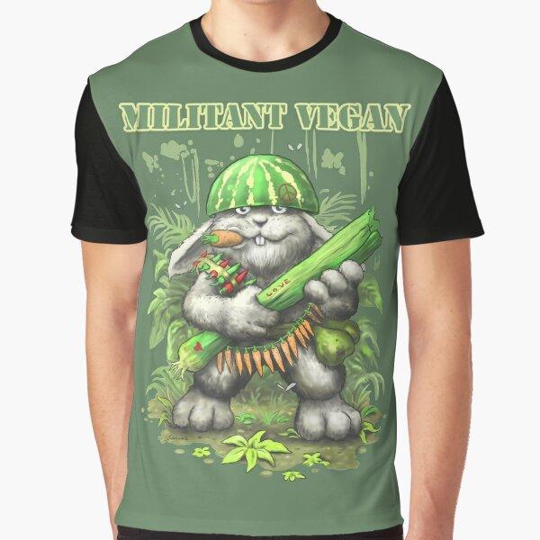 Militant vegan Graphic T-Shirt
