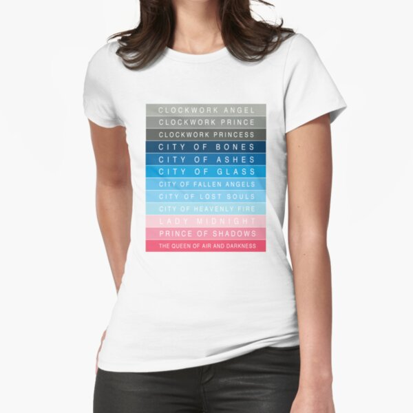 Cassandra Clare: Titles Fitted T-Shirt