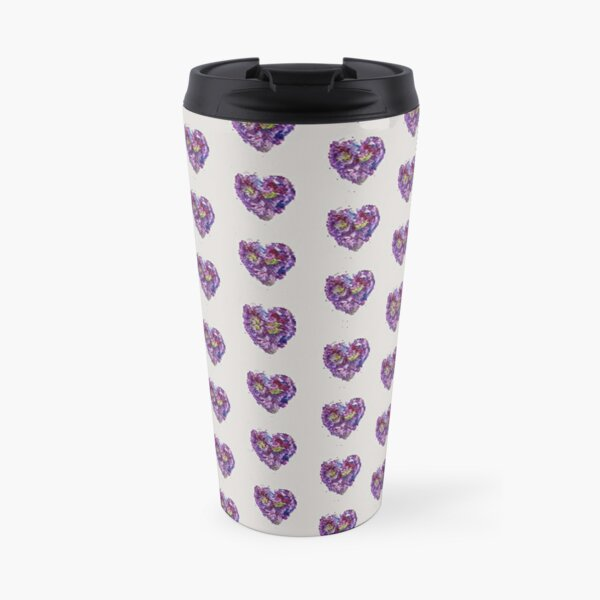Wandering Purple Hearts Travel Mug