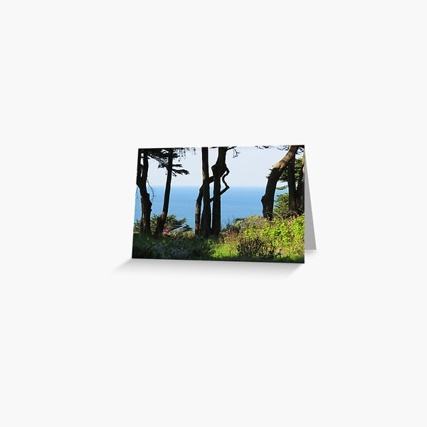 Water past trees Greeting Card