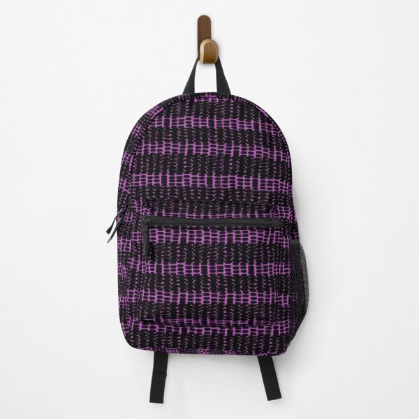 Grey pattern stripes and fuchsia Backpack