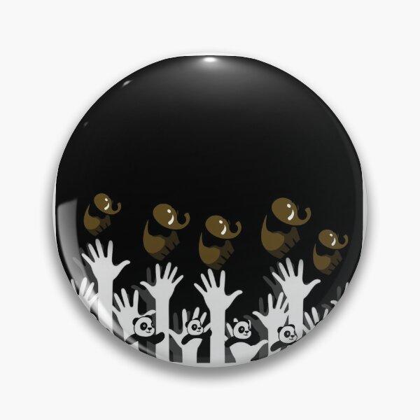Hand jump elephant logo Pin
