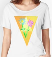 The Blue Daisy and the Violet Violet Women's Relaxed Fit T-Shirt