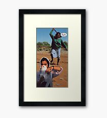 M Blackwell - What You're Runnin' From Framed Print