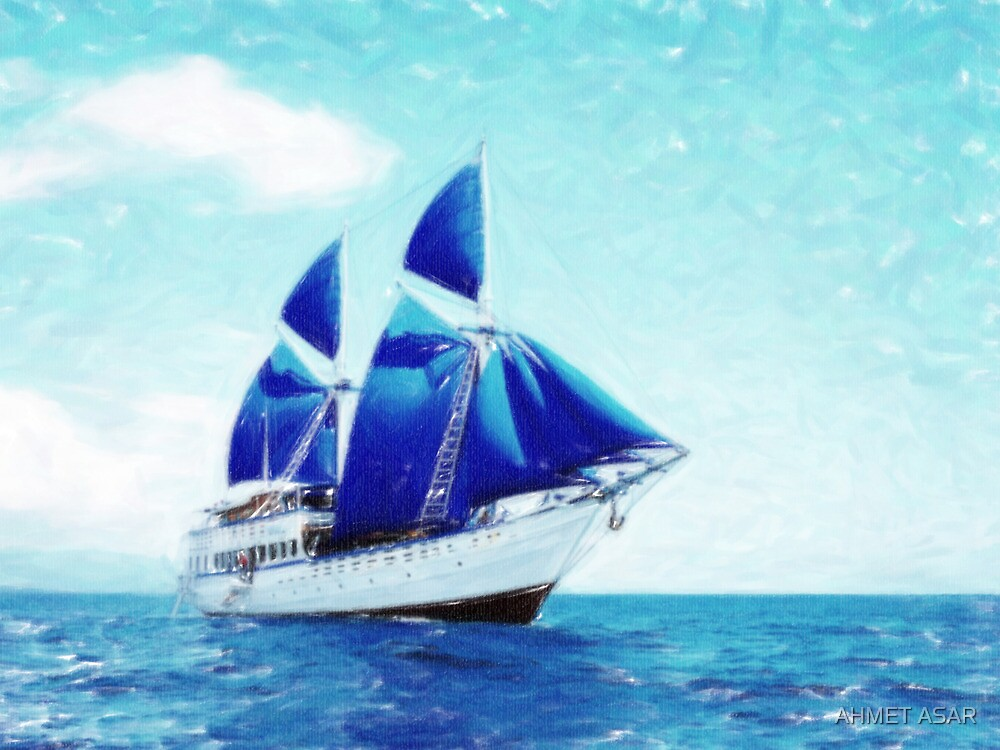 blue sail pastel by MotionAge Media