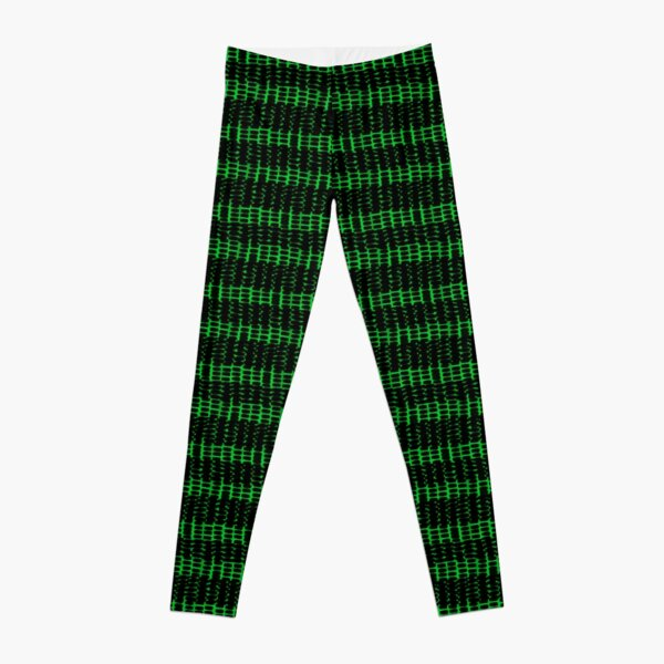 Punk muster Streifen und grün Leggings