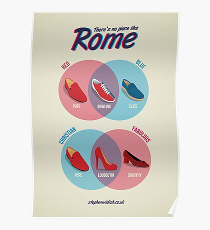 There's no place like Rome Poster