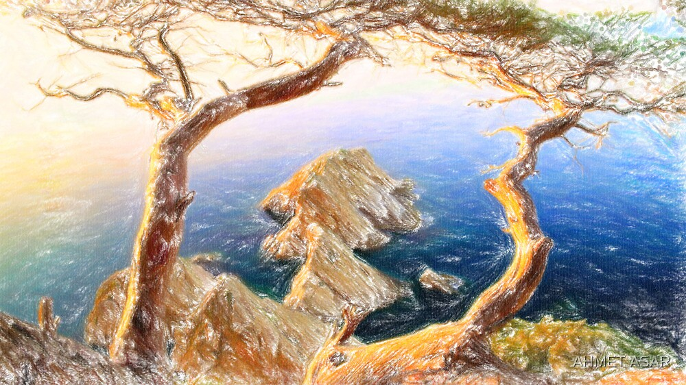 Costa Brava in Spain with crayons by MotionAge Media