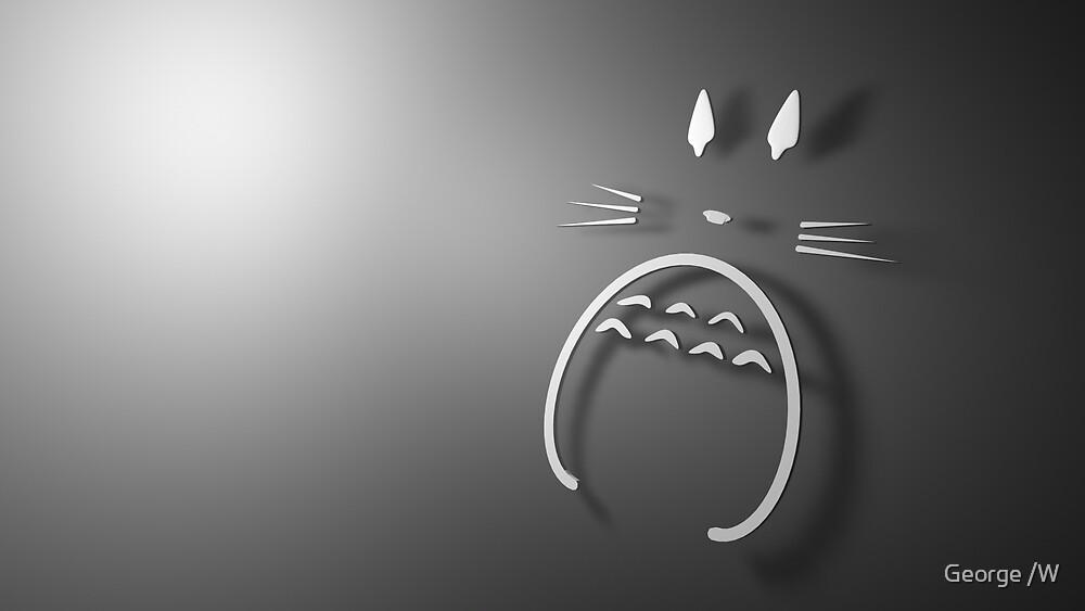 Minimalist Totoro by Evender