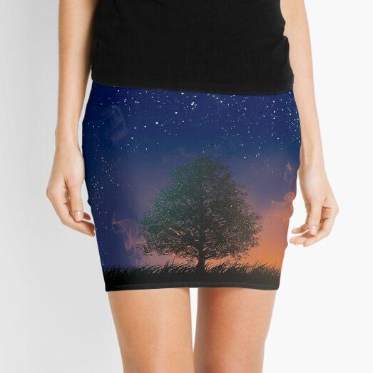 tree night stars Mini Skirt