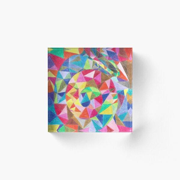 Colourful shell horn Acrylic Block