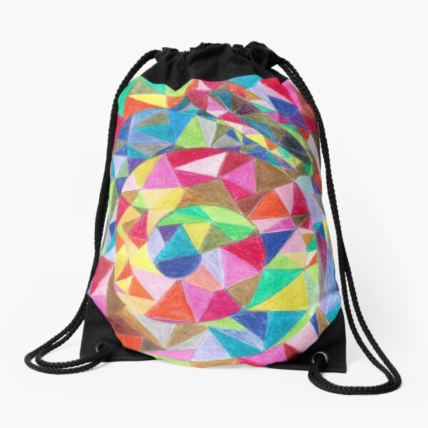 Colourful shell horn Drawstring Bag