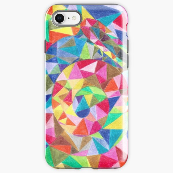 Colourful shell horn iPhone Tough Case