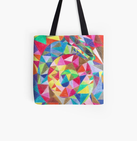 Colourful shell horn All Over Print Tote Bag