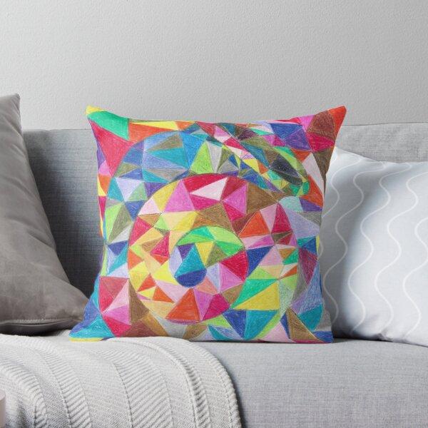 Colourful shell horn Throw Pillow