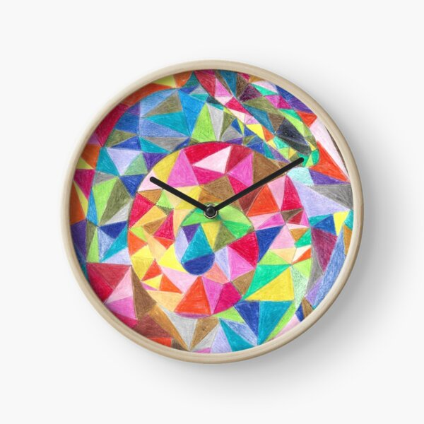 Colourful shell horn Clock