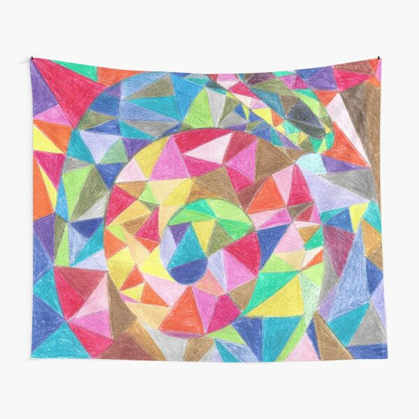 Colourful shell horn Tapestry