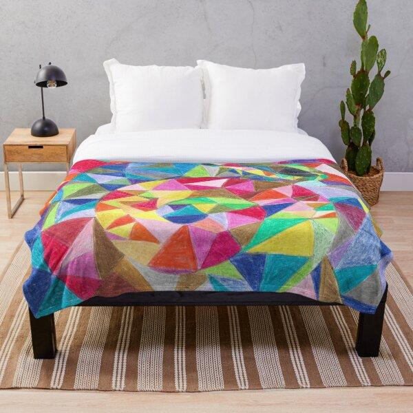 Colourful shell horn Throw Blanket