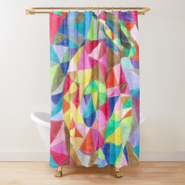 Colourful shell horn Shower Curtain