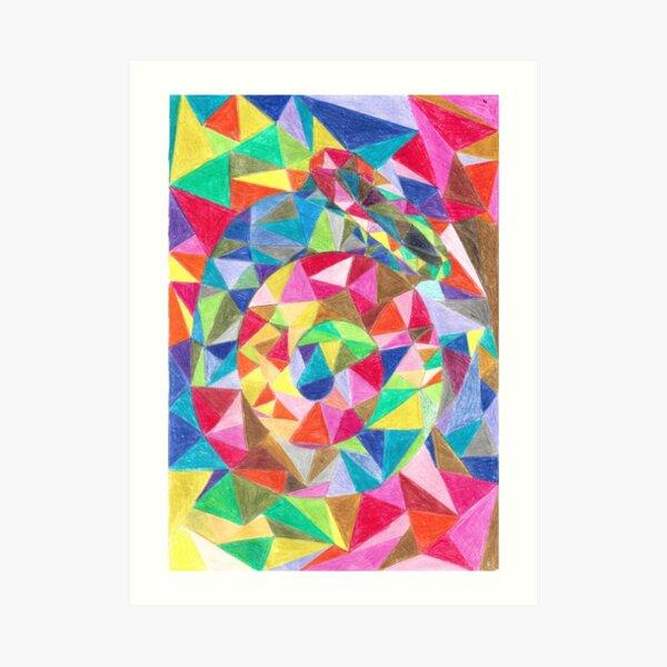 Colourful shell horn Art Print