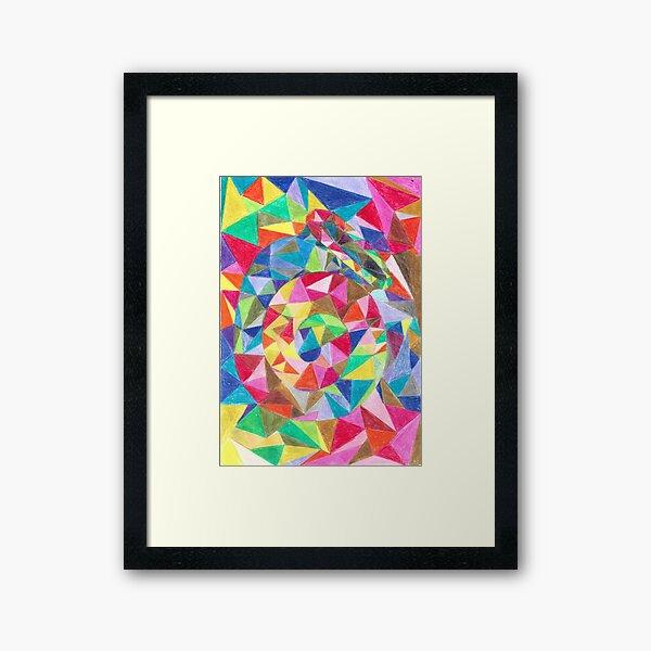 Colourful shell horn Framed Art Print