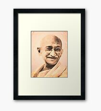 Ghandi Motivation Framed Print