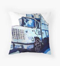 Garbage Truck Throw Pillow