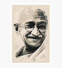 Ghandi smile Photographic Print