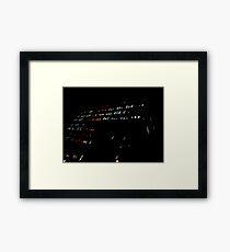Mondrian Lights. Framed Print