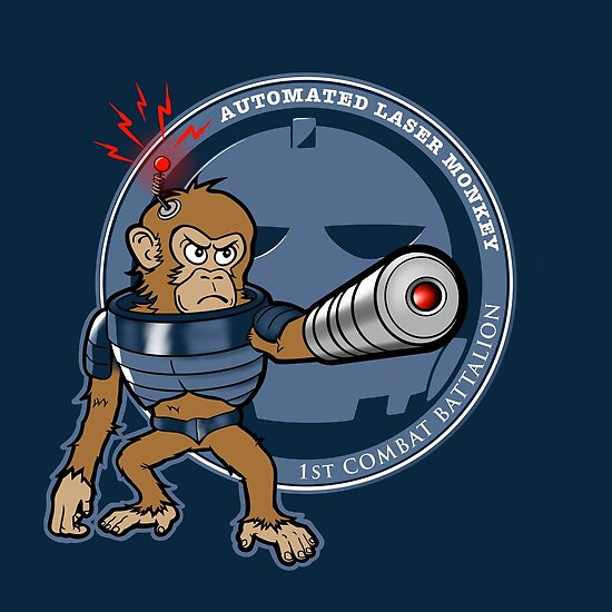 Automated Laser Monkey by Darren Carnall