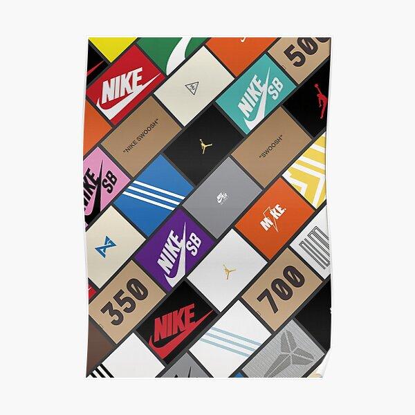 Sneaker box colors Poster