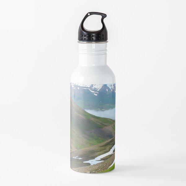 Watercolor Landscape, Trollskagi 29, Iceland Water Bottle