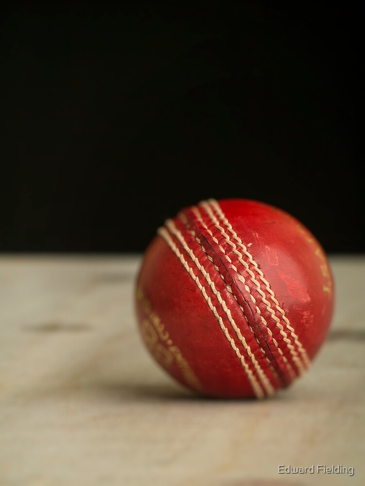 Red Cricket Ball by Edward Fielding