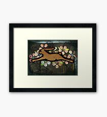 Leaping Rabbit Framed Print
