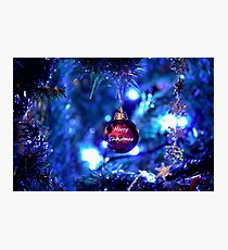Red Bauble for Christmas Photographic Print