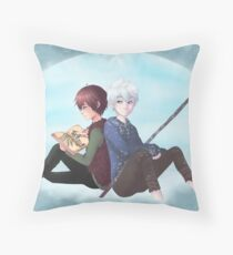 Jack Frost and Hiccup- Drawing with good company Throw Pillow