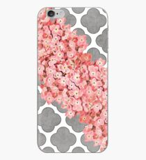 hydrangea and gray clover iPhone Case