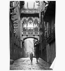 Póster Barri Gotic, Barcelona