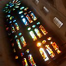 Windows Of Sagrada Familia by Sue Knowles