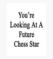 You're Looking At A Future Chess Star  Photographic Print