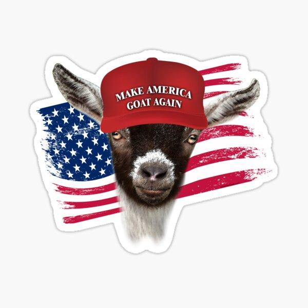 Make America GOAT Again Pygmy Goat  Sticker
