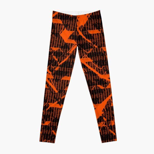 Verrückte Streifen Muster orange Leggings