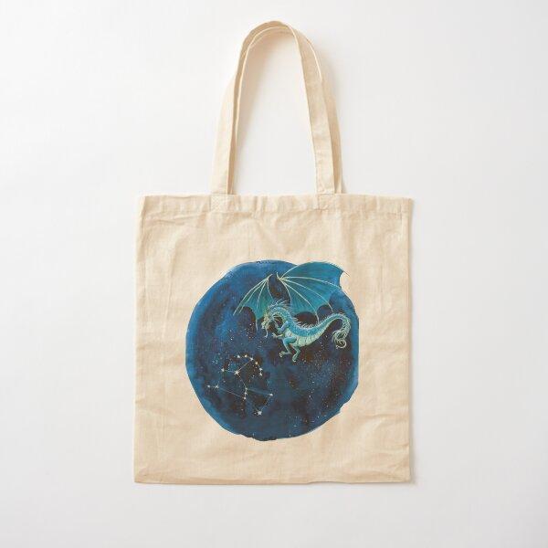 Fantasy Dragon Art Print Cotton Tote Bag