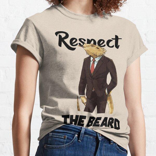 Bearded Dragon Shirt-Respect The Beard Classic T-Shirt