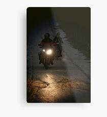 Riding in the night Metal Print