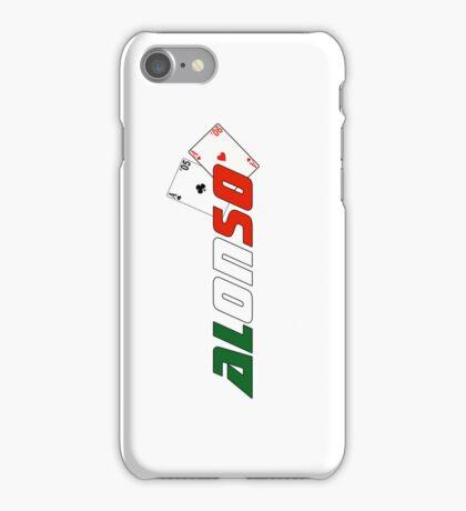 Fernando Alonso (Italian colours) iPhone Case/Skin