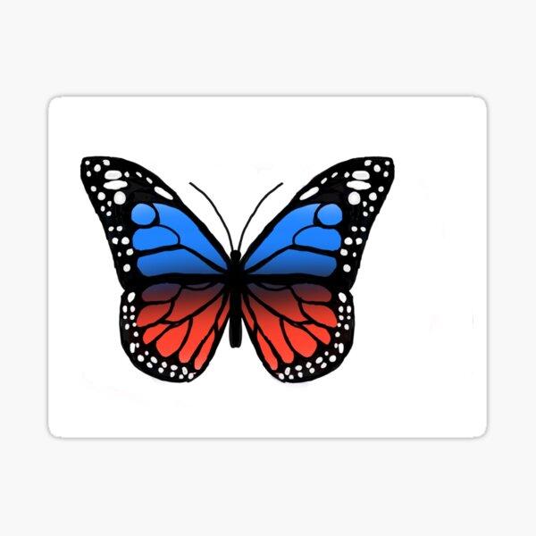 Polyamorous Pride Butterfly Sticker