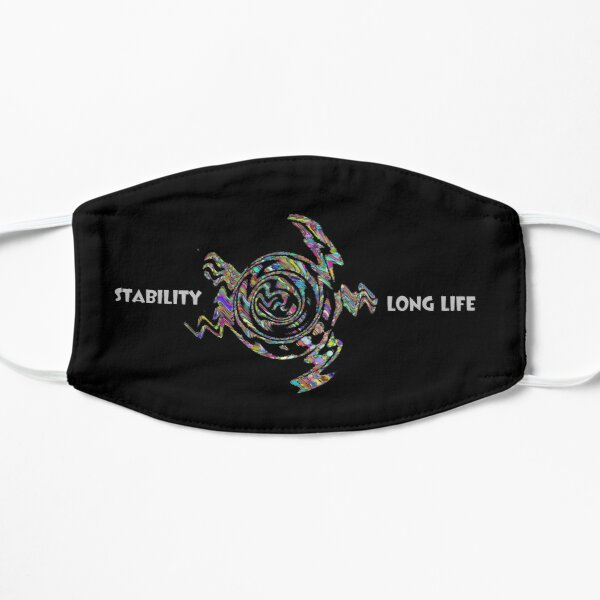 Abstract Turtle Stability Long Life Face Mask Mask