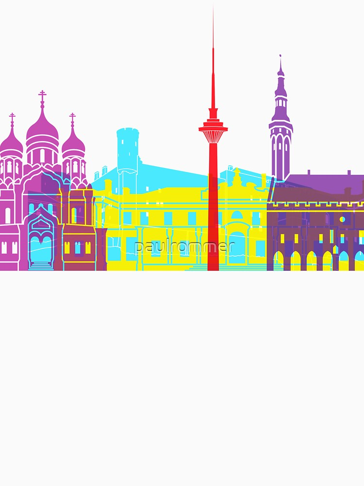 Tallinn skyline pop by paulrommer
